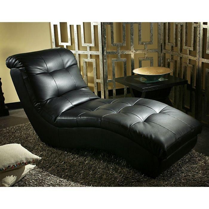 Metro Pro Chaise Lounge – Tufted, Black Leather – Diamond Sofa Within Black Leather Chaise Sofas (View 16 of 20)