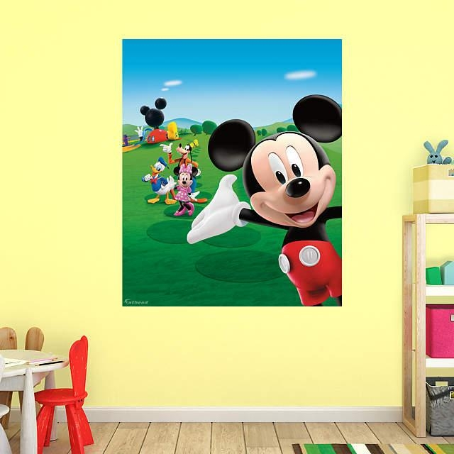 Mickey Mouse Clubhouse Mural Wall Decal | Shop Fathead® For Mickey Intended For Mickey Mouse Clubhouse Wall Art (View 14 of 20)