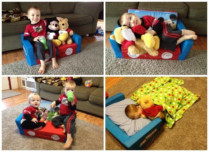 Mickey Mouse Clubhouse Sofa For Toddlers With Regard To Flip Open Kids Sofas (Image 18 of 20)