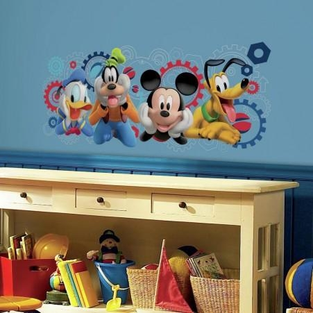 Mickey Mouse & Friends Wall Decals | Mickey Mouse & Friends Wall Intended For Mickey Mouse Clubhouse Wall Art (Image 11 of 20)