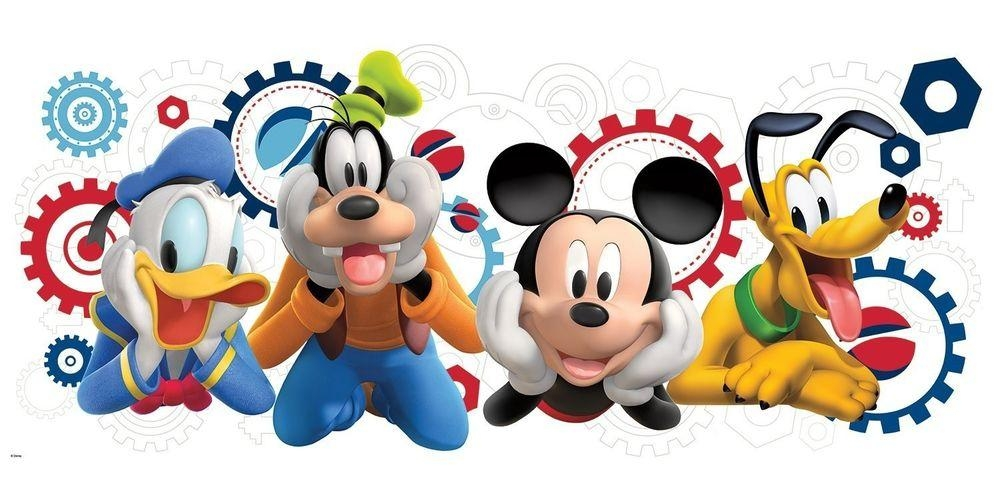Mickey Mouse Wall Decals | Ebay Within Mickey Mouse Clubhouse Wall Art (Image 18 of 20)