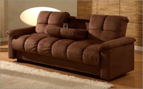 Micro Suede Fabric Meridian Casual Convertible Sofa Bed – $ (Image 12 of 20)