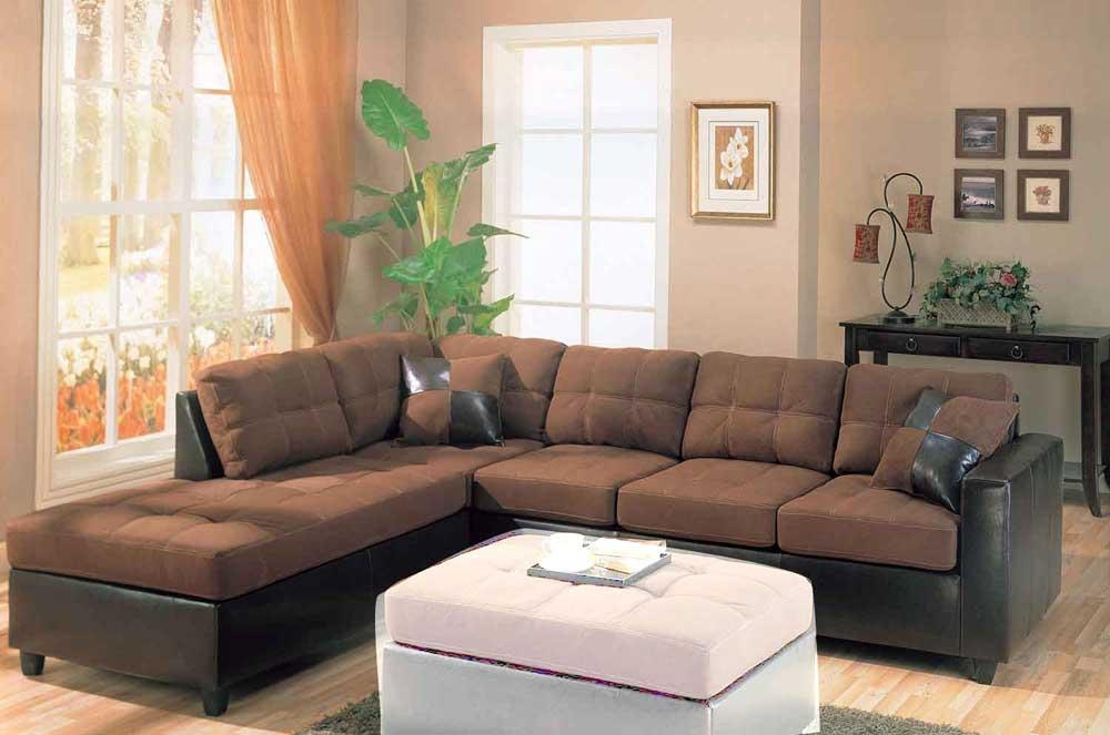 Microfiber Sectional Sofa Design New Lighting Within Microfiber Sectional Sofas (View 12 of 20)