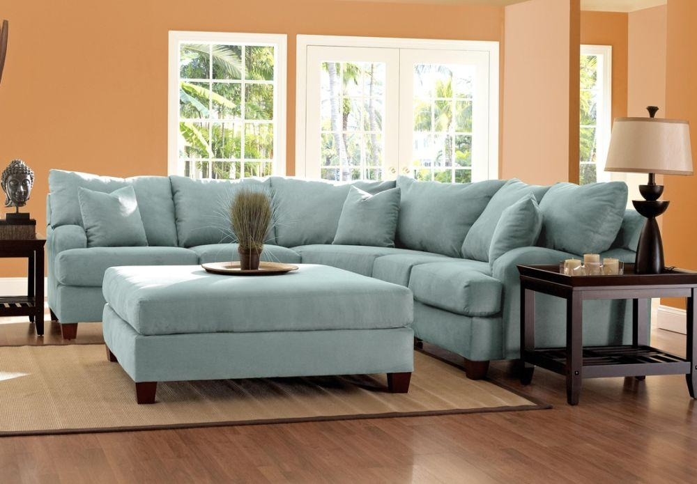 Microfiber Sectional Sofa – Lavish Element For Your Living In Blue Microfiber Sofas (Image 12 of 20)