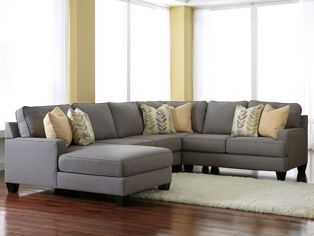 Microfiber Sectional Sofa With Chaise — Prefab Homes In Microfiber Sectional Sofas (View 8 of 20)
