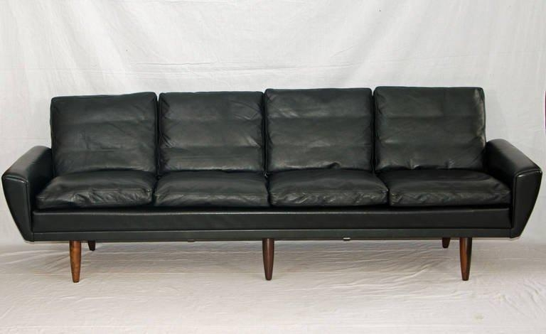 Mid Century Danish Leather Sofa – George Thams At 1Stdibs Within Danish Leather Sofas (Image 15 of 20)