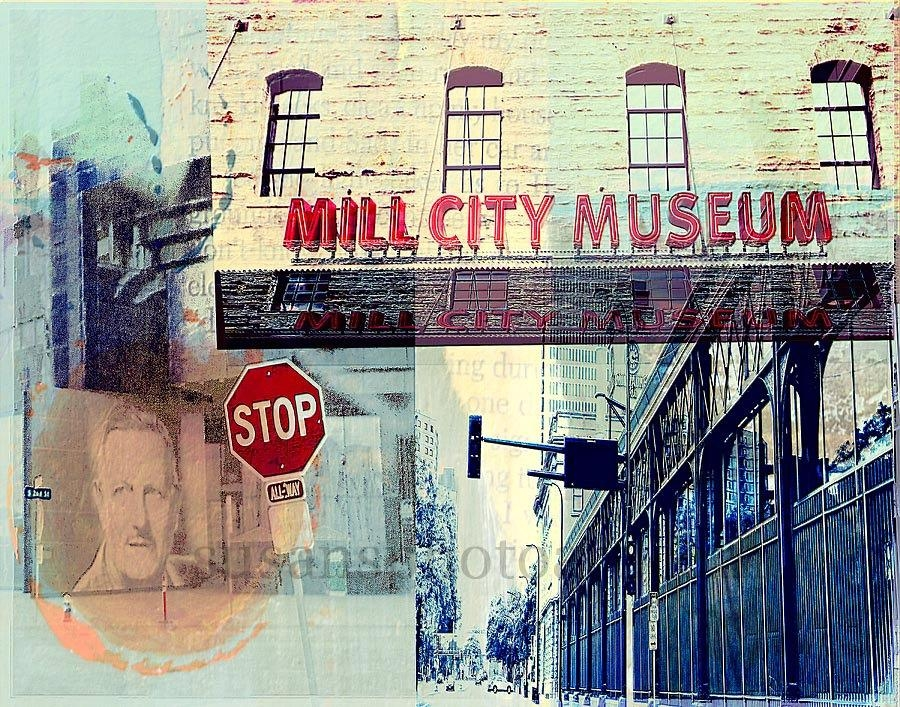 Mill City Minneapolis Minnesota Fine Art Digital Photo Wall Inside Minneapolis Wall Art (Image 10 of 20)