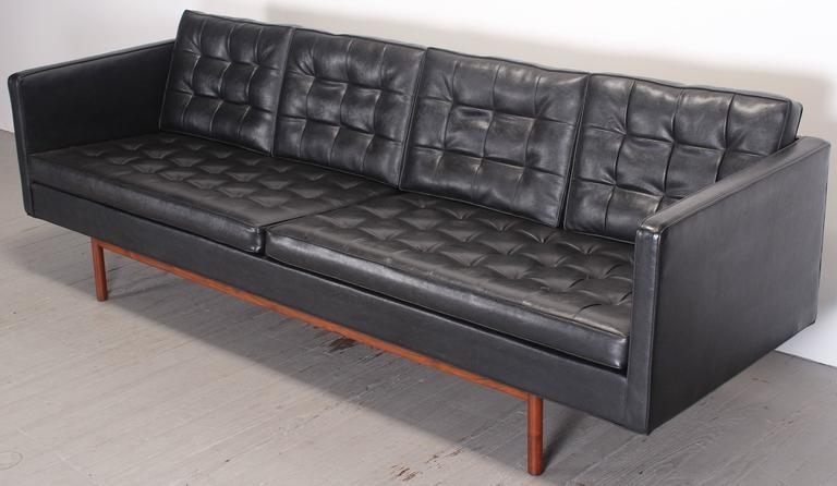 Milo Baughman For Thayer Coggin Black Vinyl Sofa, 1960S At 1Stdibs For Black Vinyl Sofas (Image 17 of 20)