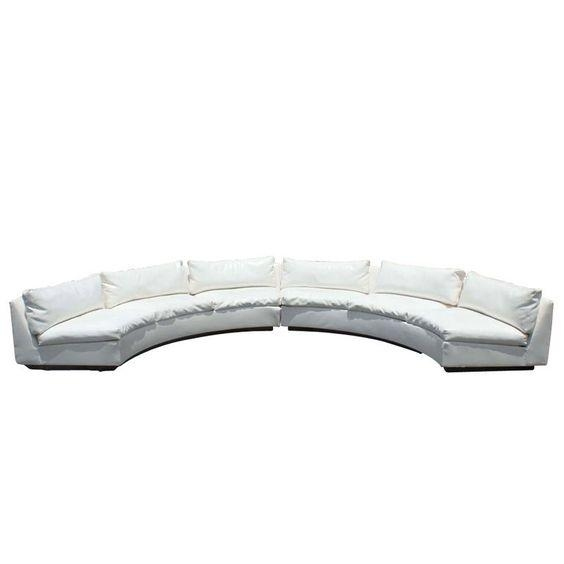 Milo Baughman For Thayer Coggin Semi Circular Sectional Sofa With Regard To Semi Circular Sectional Sofas (View 17 of 20)