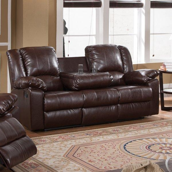 Milton Green Star Burgas Reclining Sofa With Drop Down Cup Holder Throughout Sofas With Cup Holders (Image 9 of 20)
