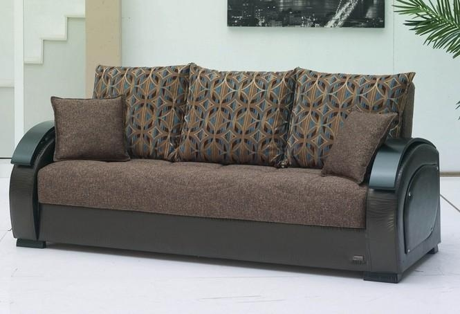 Minneapolis Chenille Sleeper Sofa With Storage For Chenille Sleeper Sofas (Image 18 of 20)