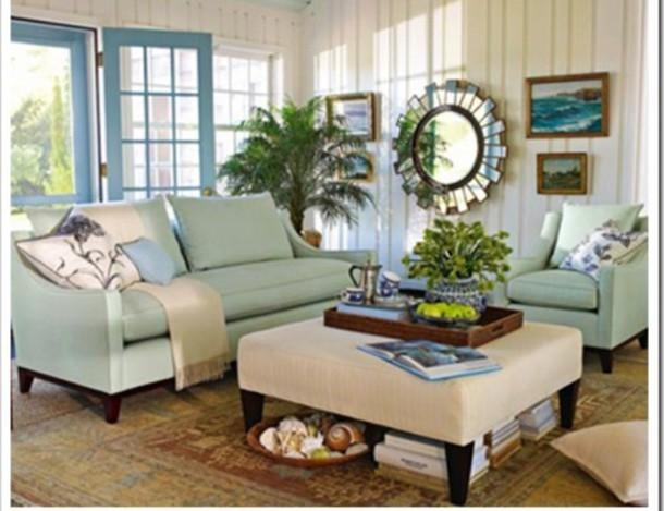 Mint Green Living Room Accessories Green Living Rooms In 2016 In Seafoam Green Sofas (Image 7 of 20)