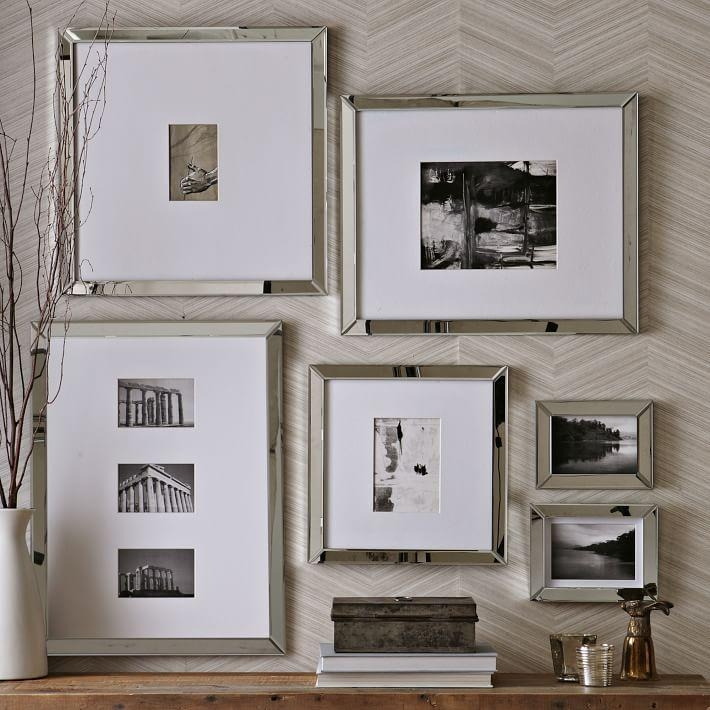 Mirror Gallery Frames | West Elm With Mirrored Frame Wall Art (Image 10 of 20)