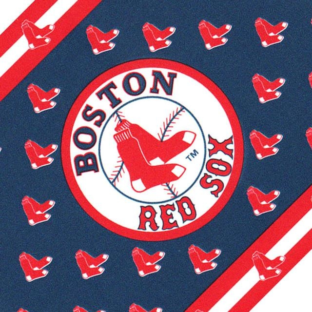 Mlb Baseball Boston Red Sox Accent Wallpaper Border Roll Pertaining To Red Sox Wall Decals (View 10 of 20)