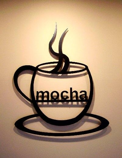 Mocha Coffee Cup Metal Wall Art Decor Silhouette In Metal Coffee Cup Wall Art (Image 18 of 20)