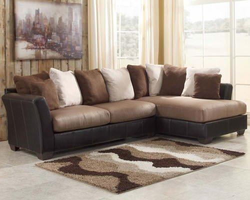 Mocha Sectional Sofa Set Signature Designashley Furniture Intended For Signature Design Sectional Sofas (Image 10 of 20)