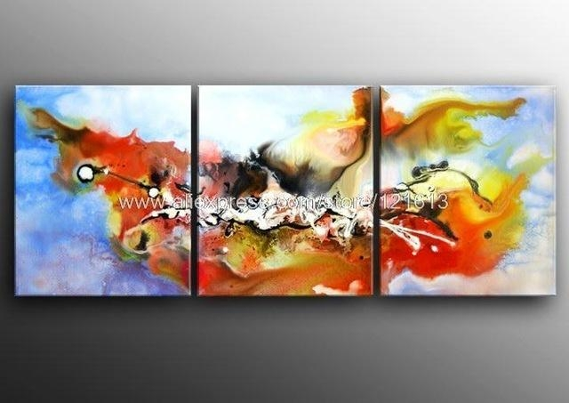 Modern Abstract Painting Oil Canvas Contemporary Wall Art Large Inside Large Contemporary Wall Art (View 19 of 20)
