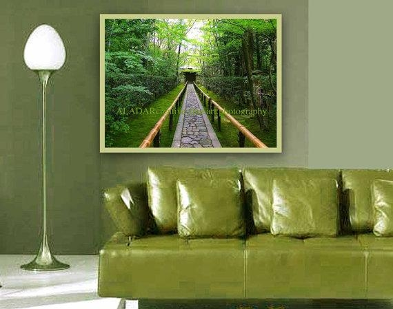 Modern Art Wall Decor Feng Shui Green Spring Bedroom Intended For Feng Shui Wall Art (View 10 of 20)