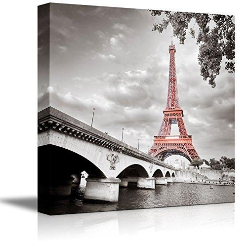 Modern, Black And White Photographic, Paris Wall Art With Pink Pertaining To Black And White Paris Wall Art (Image 13 of 20)
