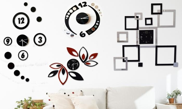 Modern Clock Wall Art | Groupon Goods Within Groupon Wall Art (Image 13 of 20)