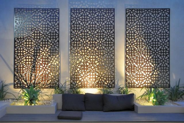 Modern Garden Wall Art Grail Outdoor Screen And Wall Art Pertaining To Contemporary Outdoor Wall Art (Image 11 of 20)