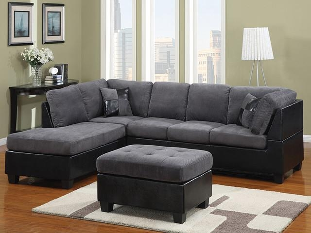 Modern Gray Sectional (Image 17 of 20)