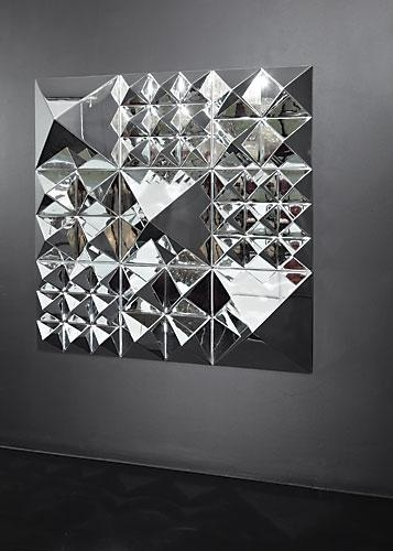 Modern Interior Design: Glass Mirrored Decorative Wall Art Modern For Modern Mirror Wall Art (Image 11 of 20)