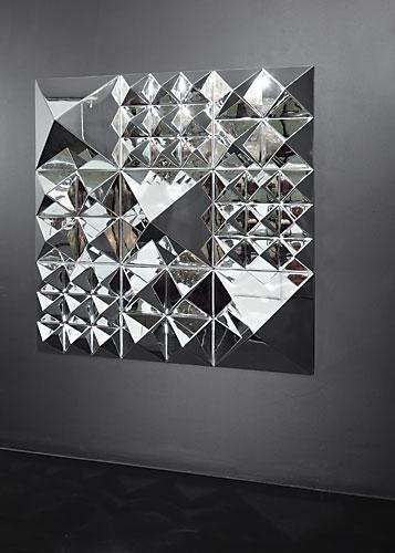 Modern Interior Design: Glass Mirrored Decorative Wall Art Modern Throughout Mirrors Modern Wall Art (Image 11 of 20)