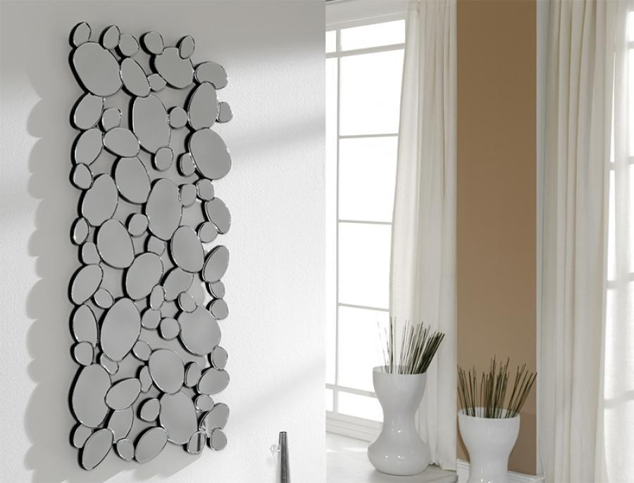 Modern Many Pebbles Shaped Rectangular Wall Mirror Throughout Contemporary Mirror Wall Art (Image 11 of 20)