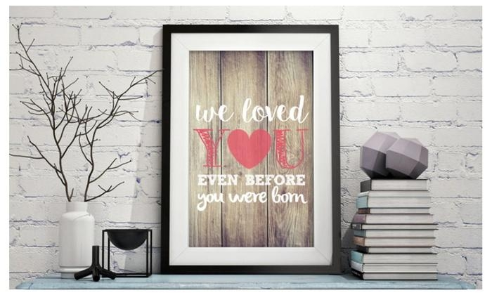 Modern Nursery Printed Wall Art, Vintage Wood Theme | Groupon Throughout Groupon Wall Art (Image 14 of 20)