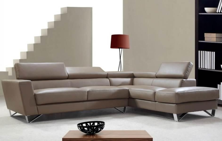 Modern Red Leather Sectional Sofa | Nucleus Home Throughout Small Scale Leather Sectional Sofas (View 14 of 20)
