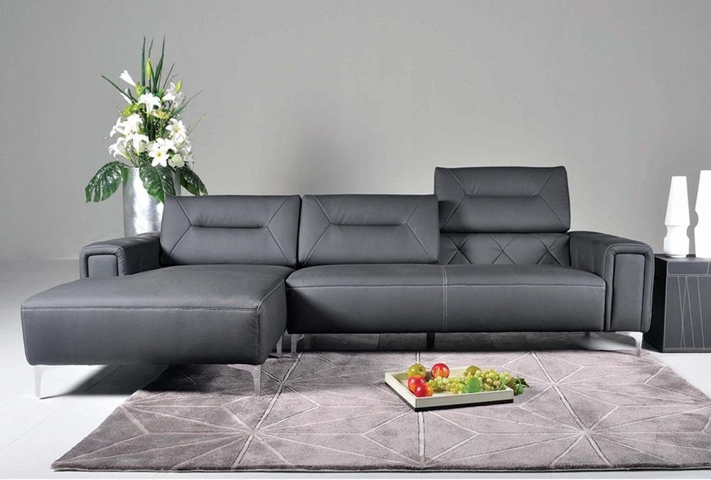 Modern Sectional Sofas Of Fabric And Leather In Modern Small Sectional Sofas (View 13 of 20)