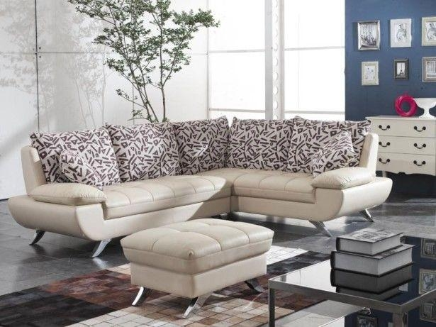 Modern Small Leather Sectional Sofa For Living Room Pictures Inside Modern Small Sectional Sofas (View 19 of 20)