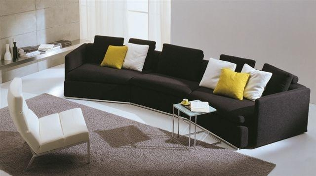 Modern Sofas Sofa Set With Genuine Leather For Living Room Inside Regarding Modern Sofas (Image 15 of 20)