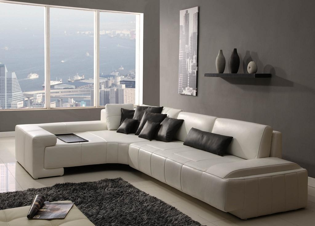 Modern Sofas Sofa Set With Genuine Leather For Living Room Inside Throughout Modern Sofas (Image 16 of 20)