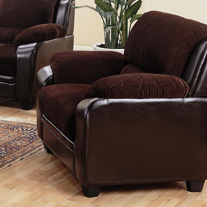 Monika Chocolate Corduroy Sofacoaster – 502811 Regarding Brown Corduroy Sofas (Image 13 of 20)
