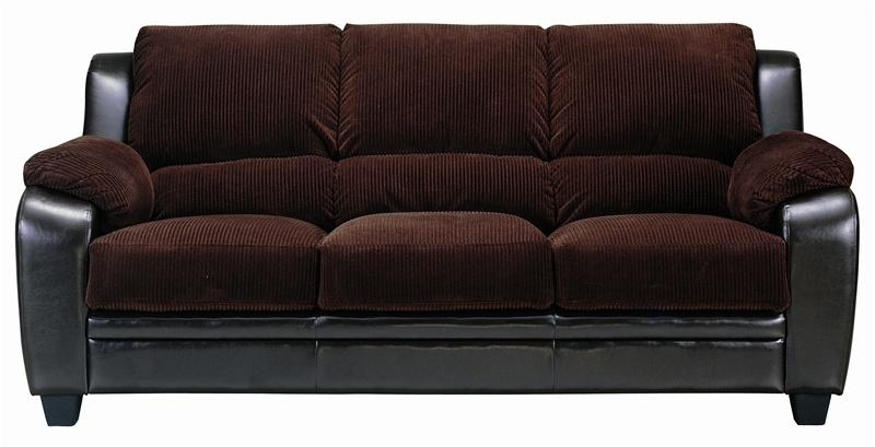 Monika Chocolate Corduroy Sofacoaster – 502811 Throughout Brown Corduroy Sofas (Image 14 of 20)