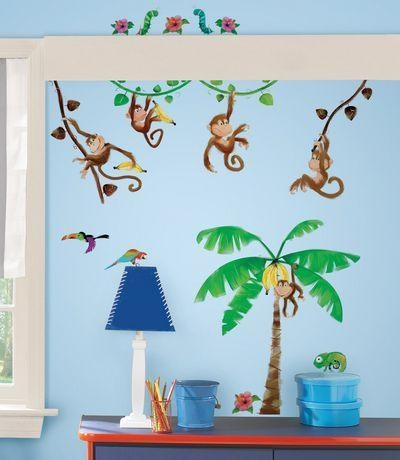Monkey Business Peel & Stick Wall Decals | Walmart (Image 9 of 20)