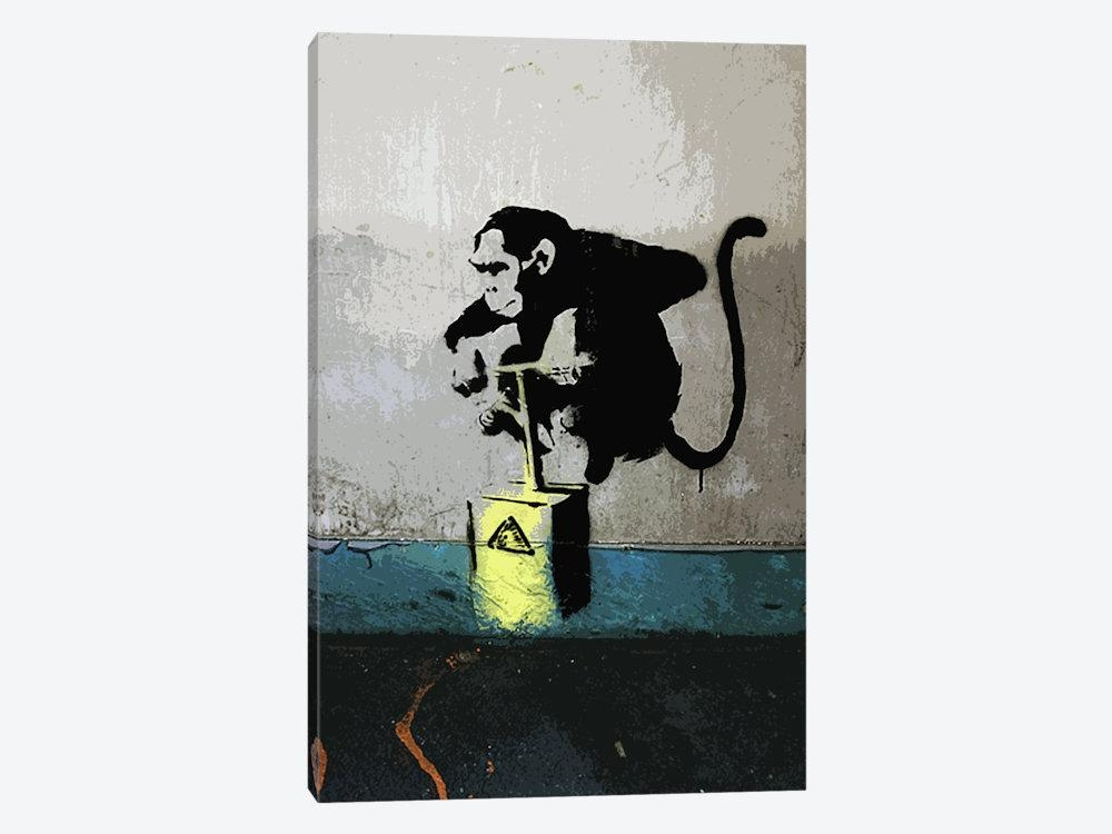 Monkey Tnt Detonator Canvas Wall Artbanksy | Icanvas Intended For Banksy Canvas Wall Art (Image 16 of 20)