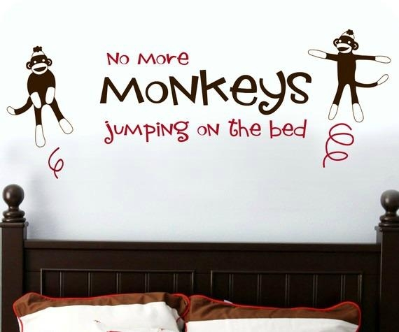 "Monkeys ""jumping On The Bed"" Wall Within Sock Monkey Wall Art (Image 12 of 20)"