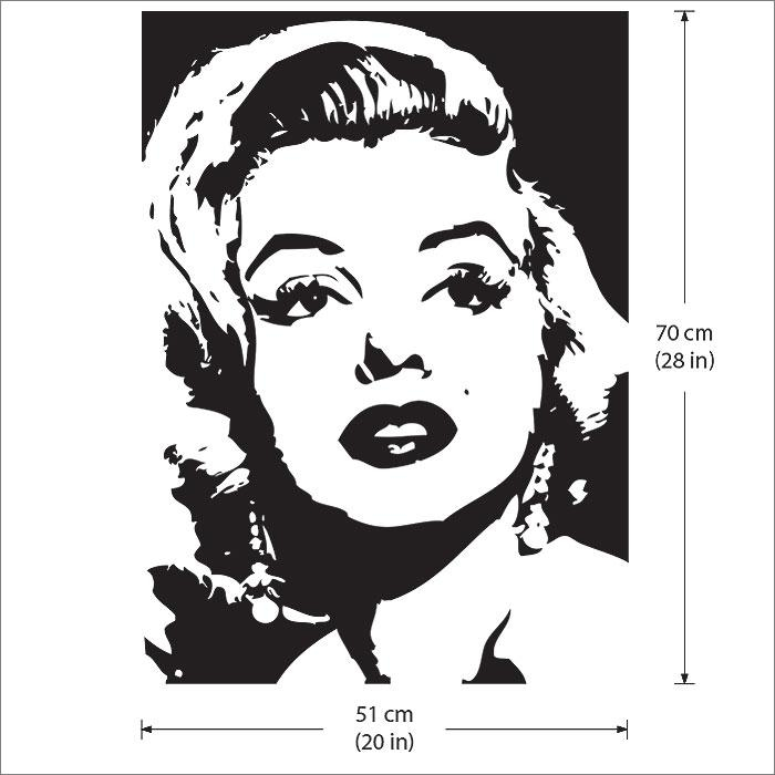 Monroe Vinyl Wall Art Decal Intended For Marilyn Monroe Black And White Wall Art (Image 19 of 20)