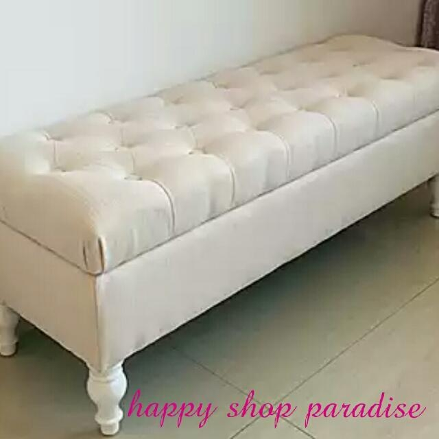 More Colors) French Style Ottoman Sofa Bench W Storage, Furniture Throughout Bench Style Sofas (Image 16 of 20)