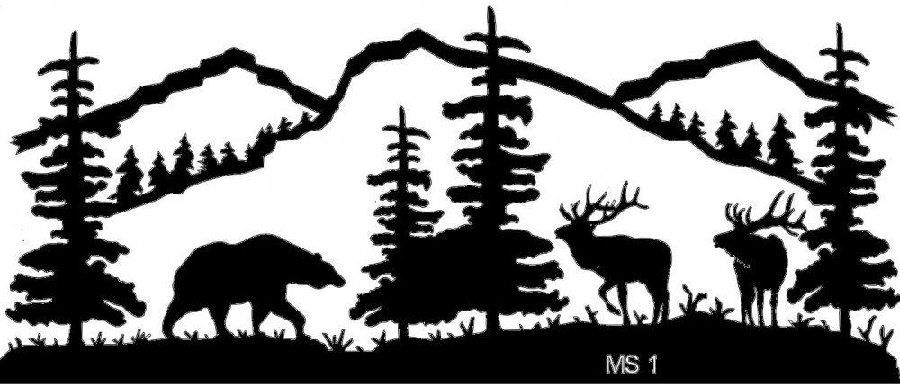 Mountain Scene Clipart Black And White – Clipartxtras Within Mountain Scene Metal Wall Art (View 15 of 20)