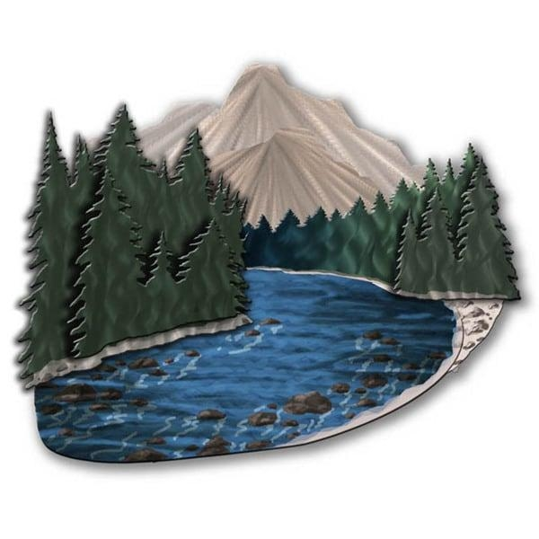 Mountain Stream' Ash Carl Metal Wall Art – Free Shipping Today For Ash Carl Metal Wall Art (Image 19 of 20)