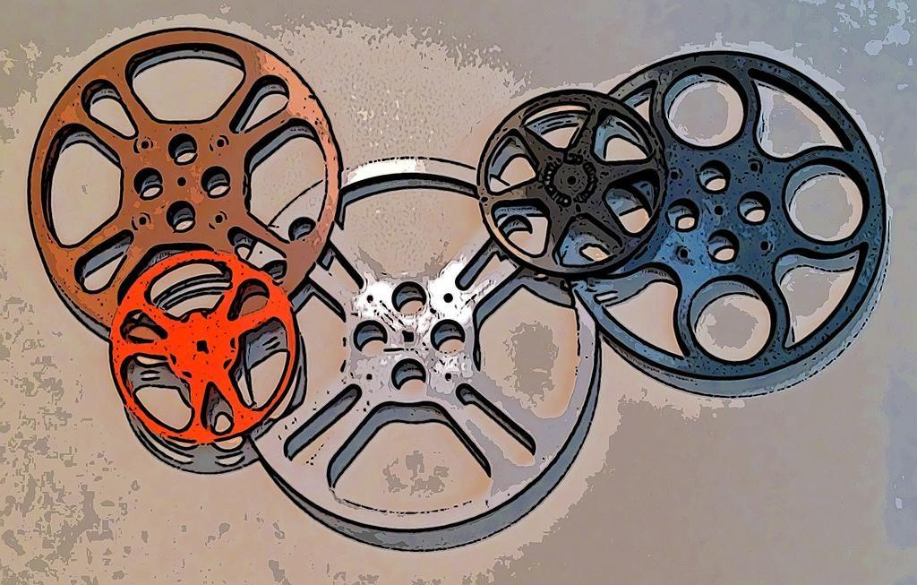 Movie Reel Wall Art • Tooncamera Ios App | Movie Reel Wall A… | Flickr In Film Reel Wall Art (View 4 of 20)