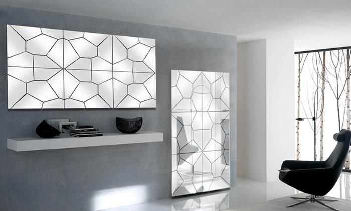 Multipanel Mirror Wall Art | Groupon Goods Pertaining To Groupon Wall Art (Image 15 of 20)