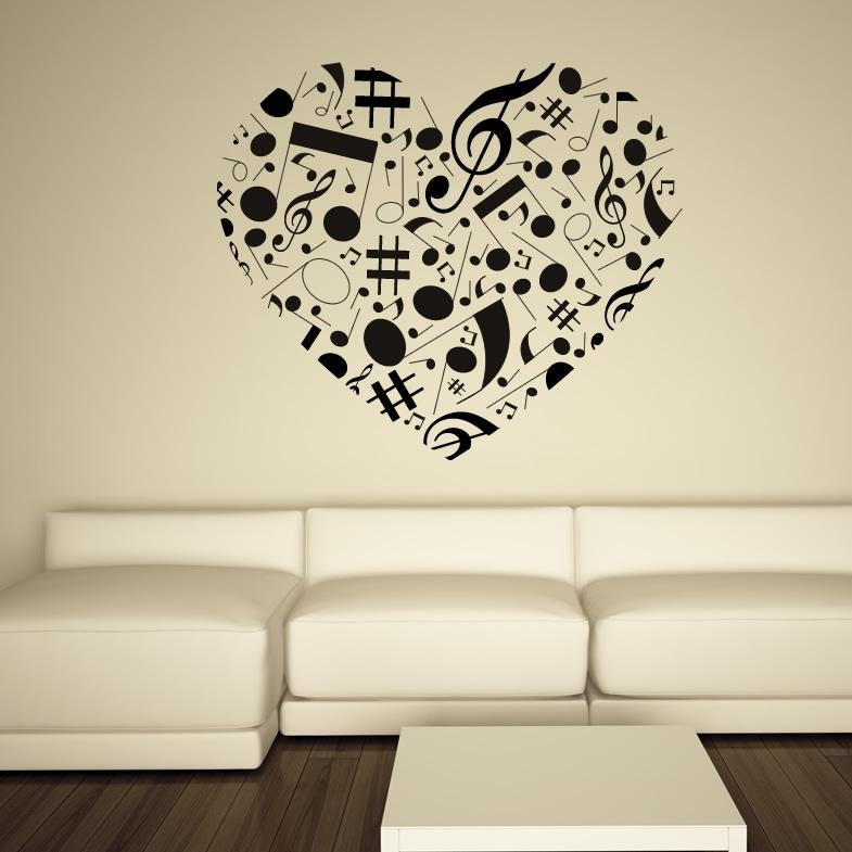 Music Note Wall Art Ideal Wall Art Ideas On Large Canvas Wall Art With Regard To Music Note Art For Walls (View 5 of 20)