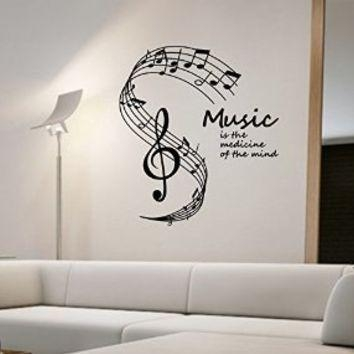 Music Notes Wall Decal Vinyl Art Home From Amazon In Music Note Art For Walls (View 3 of 20)