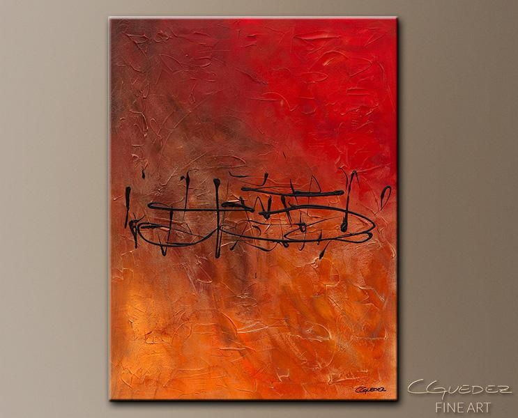 Music Wall Art Painting Nocturne – Buy Online Gallery Wrapped In Red And Yellow Wall Art (Image 11 of 20)