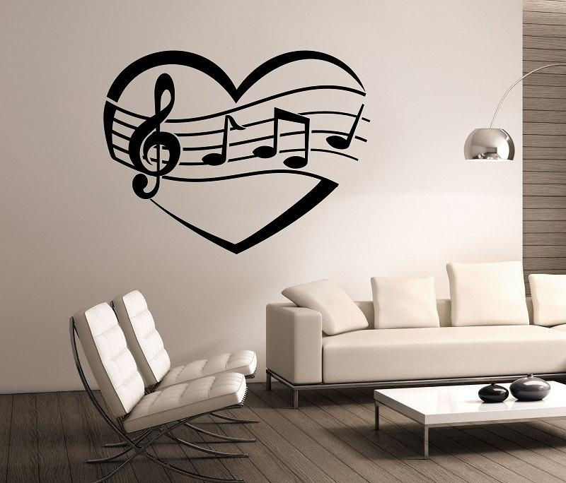 Music Wall Decals | Roselawnlutheran Regarding Music Note Wall Art Decor (View 16 of 20)
